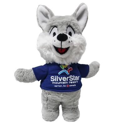 Silver Fox Stuffed Animal, Logo Woman Promotional Products Apparel