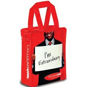 "Laminated Woven Polypropylene Muscle Tote Bag (10""x5""x13"")"