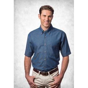 Sierra Pacific Mens Short Sleeve Cotton Twill