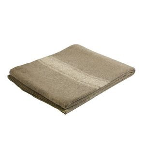 Navy Blue Military Style 70/% Virgin Wool Fire Retardant Blanket 62 X 80